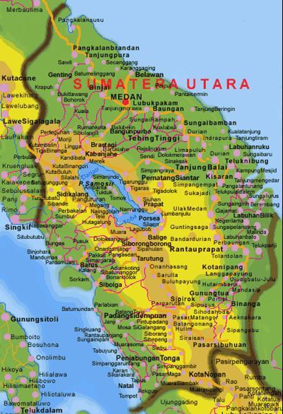 peta prov sumatera utara