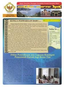 Sekilas Warta BPK Perwakilan Provinsi Sumatera Utara edisi April 2010
