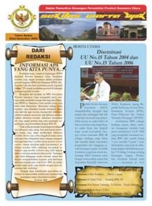 Sekilas Warta BPK Perwakilan Provinsi Sumatera Utara edisi Desember 2009