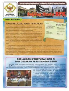 Sekilas Warta BPK Perwakilan Provinsi Sumatera Utara edisi Maret 2011