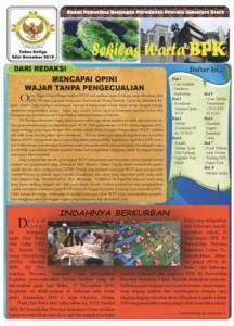 Sekilas Warta BPK Perwakilan Provinsi Sumatera Utara edisi November 2010