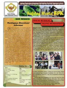 Sekilas Warta BPK Perwakilan Provinsi Sumatera Utara edisi September 2010