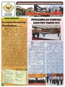 Sekilas Warta BPK Perwakilan Provinsi Sumut edisi Juli 2011